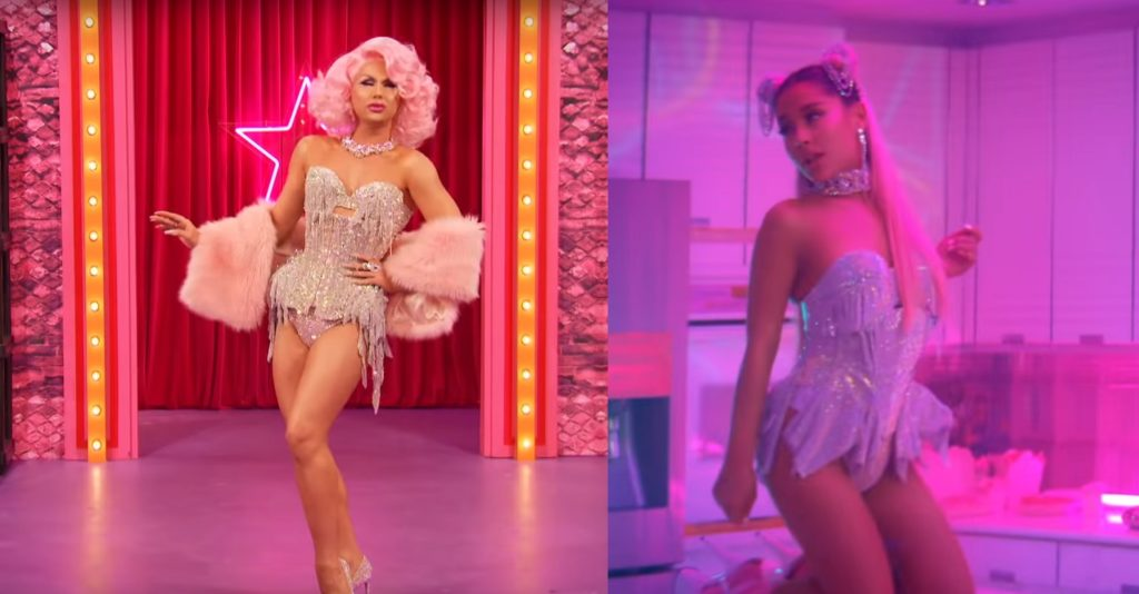 Farrah Moan accused Ariana Grande of copying her outfit for the video