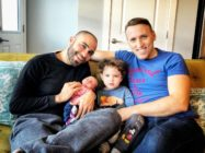 Roee and Adiel Kiviti with baby Kessem and her brother Lev Trump administration gay couple