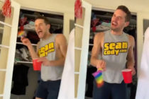 A gay actor spent a year filming himself scaring his best friend. (Twitter)
