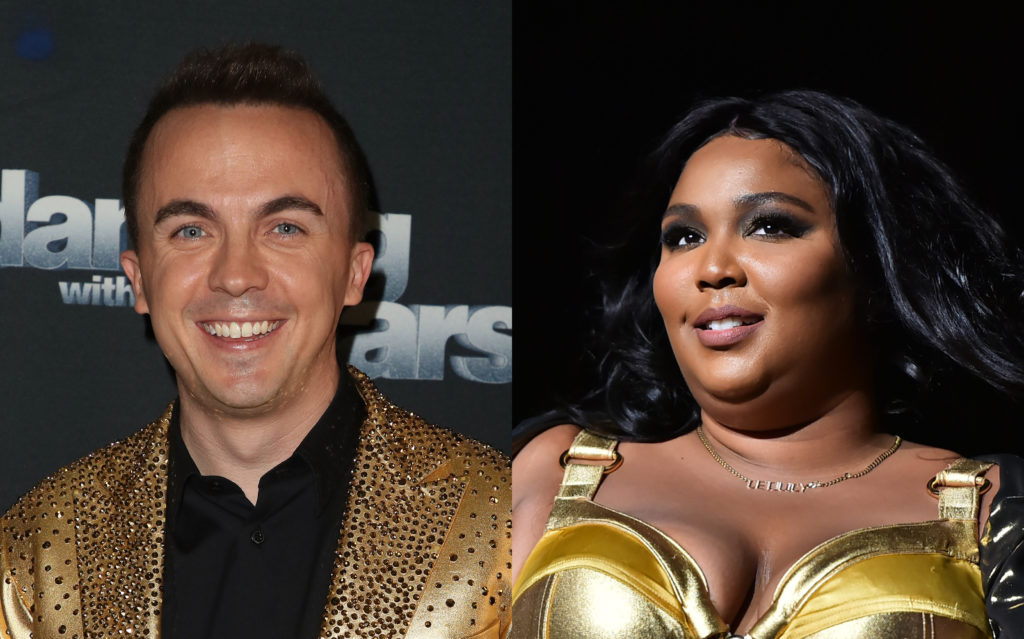 Malcolm in the Middle actor Frankie Muniz (L) had a very oddly specific request for singer Lizzo. (David Livingston via Getty/Theo Wargo via Getty)