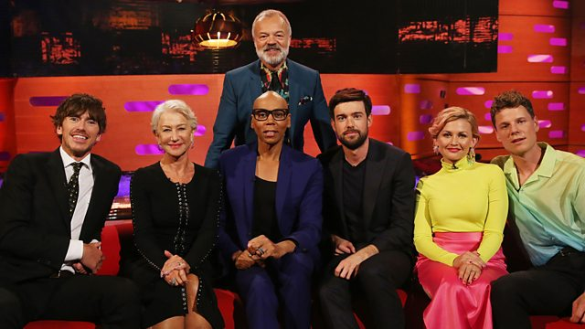 RuPaul gives Helen Mirren and Jack Whitehall their own drag names