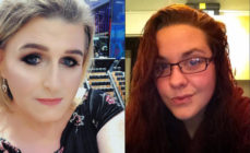 "Online abuse Stephanie Hayden (left), a trans woman, was allegedly misgendered in ""targeted"" online abuse by Kate Scottow (Twitter/MailOnline)"