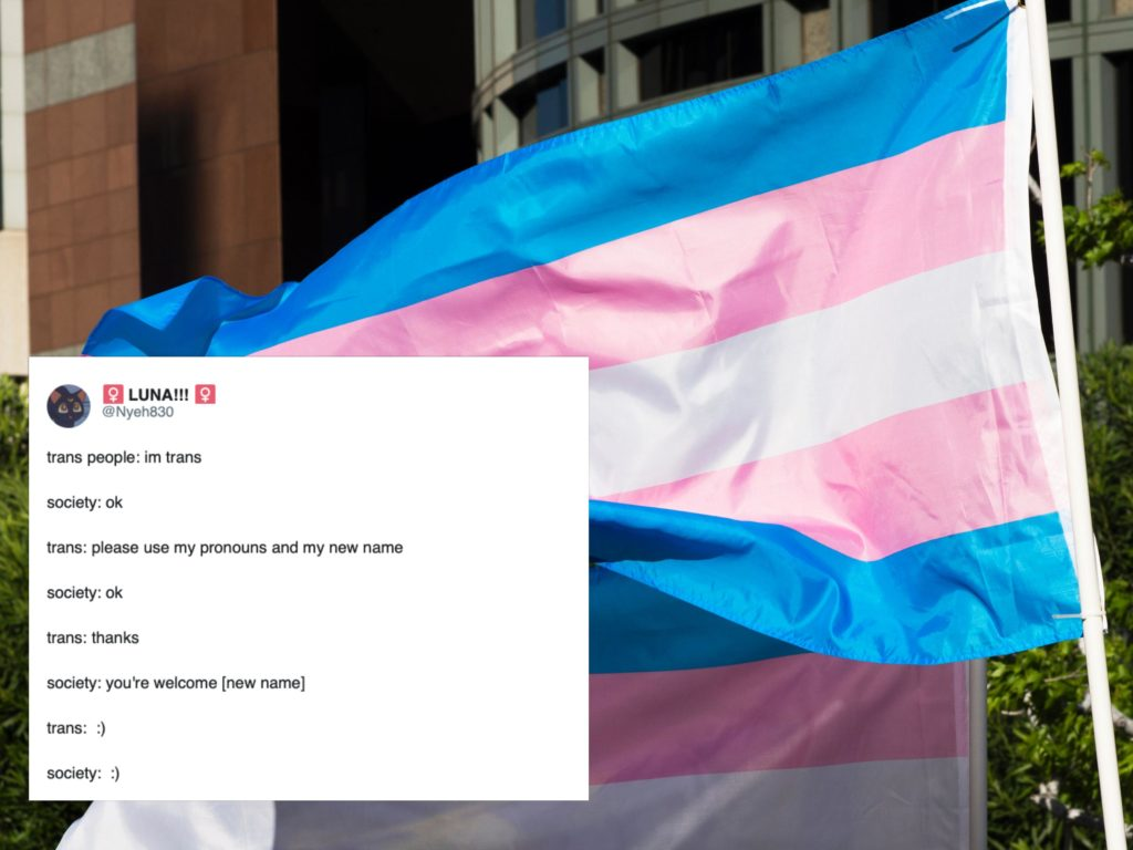 Trans people on Twitter have turned a bigoted tweet into a hilarious meme