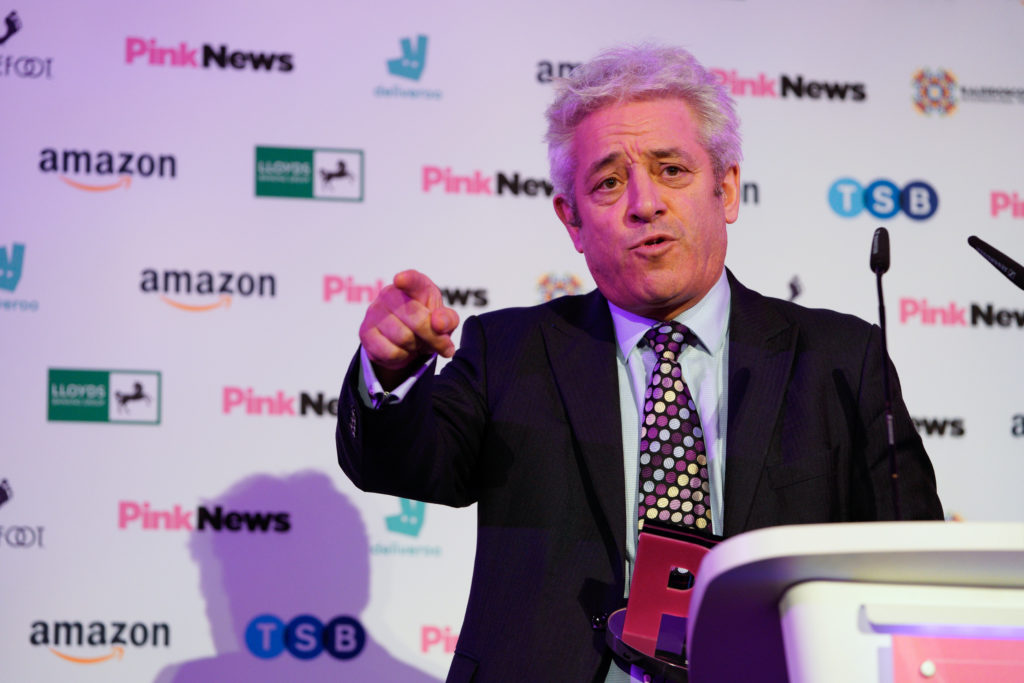 John Bercow declares trans rights are human rights in passionate speech