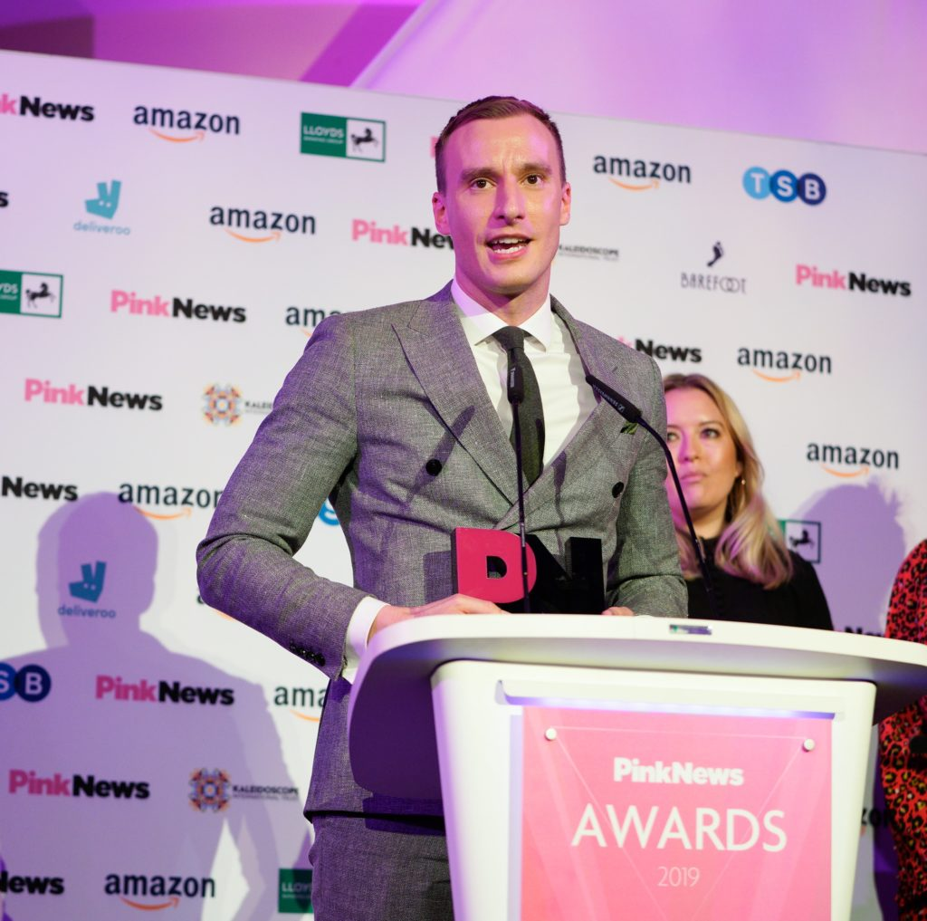 Paul Brand accepted the award for his investigation into gay cure therapy