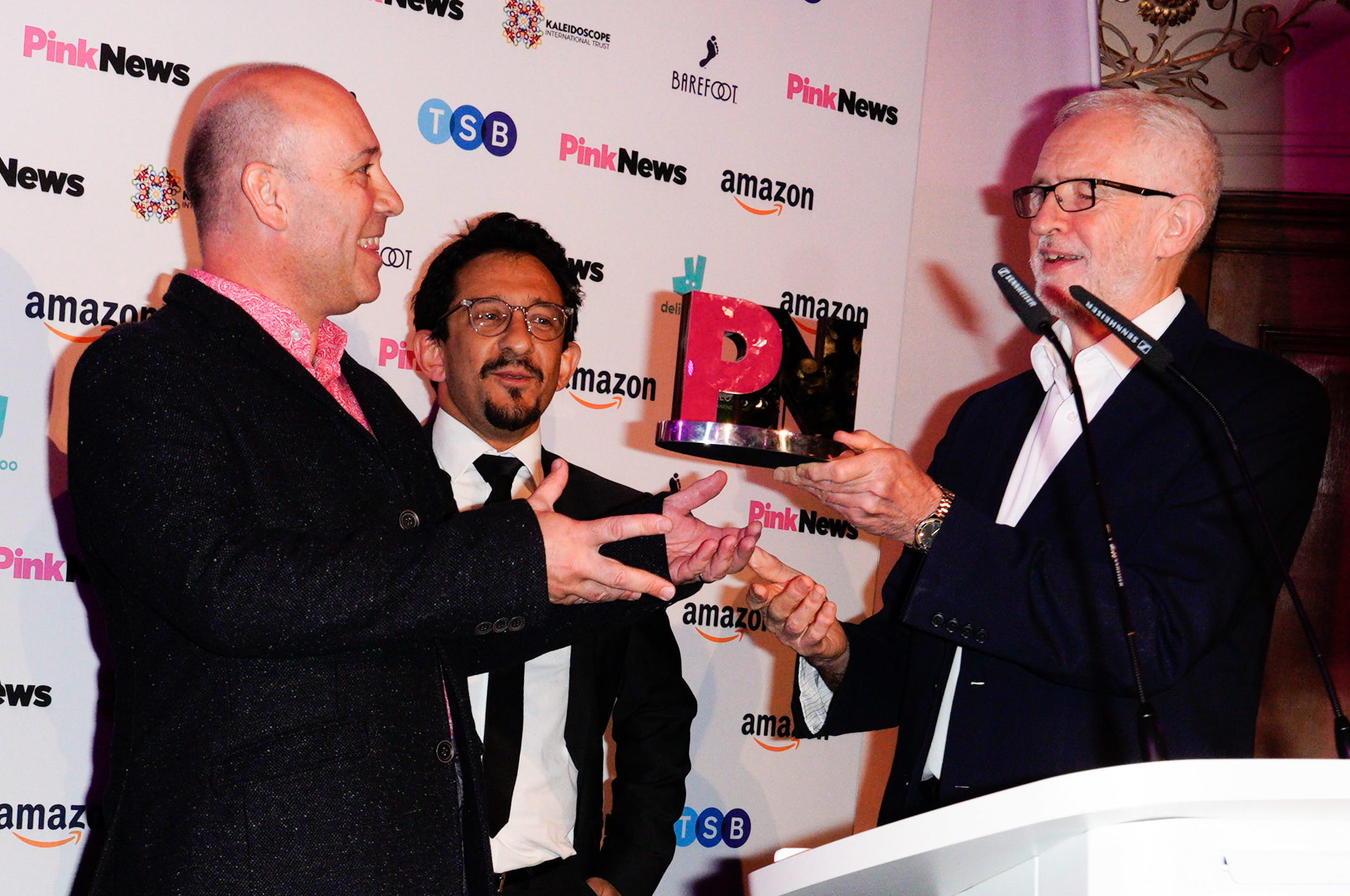 Jeremy Corbyn presented the Drama Award to EastEnders at PinkNews Awards