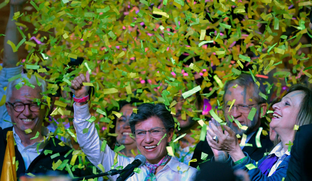 Claudia Lopez following her victory as mayor of Bogotá