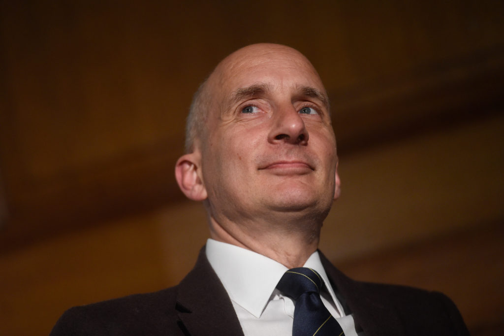 Lord Andrew Adonis attends a European Movement event on May 29, 2019 in London, England.