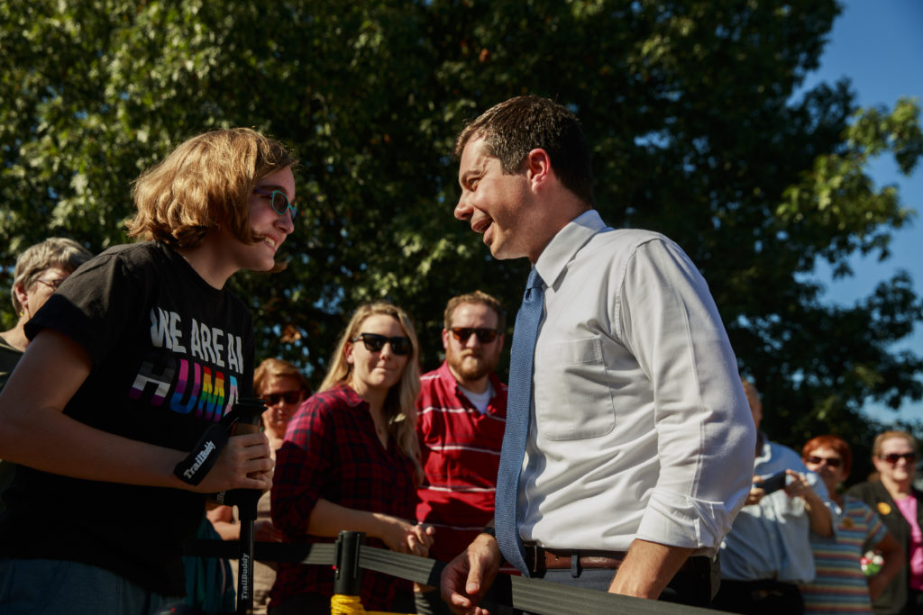 South Bend, Indiana Mayor Pete Buttigieg, who is running for the Democratic nomination for president of the United States