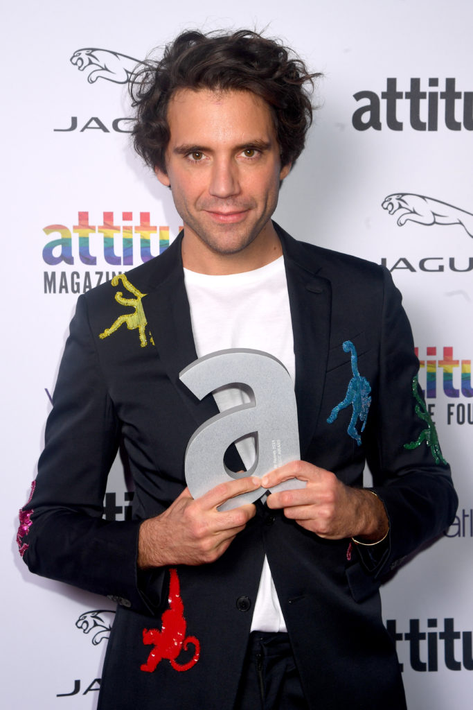 Mika, winner of The Attitude Music. (Dave J Hogan/Getty Images)