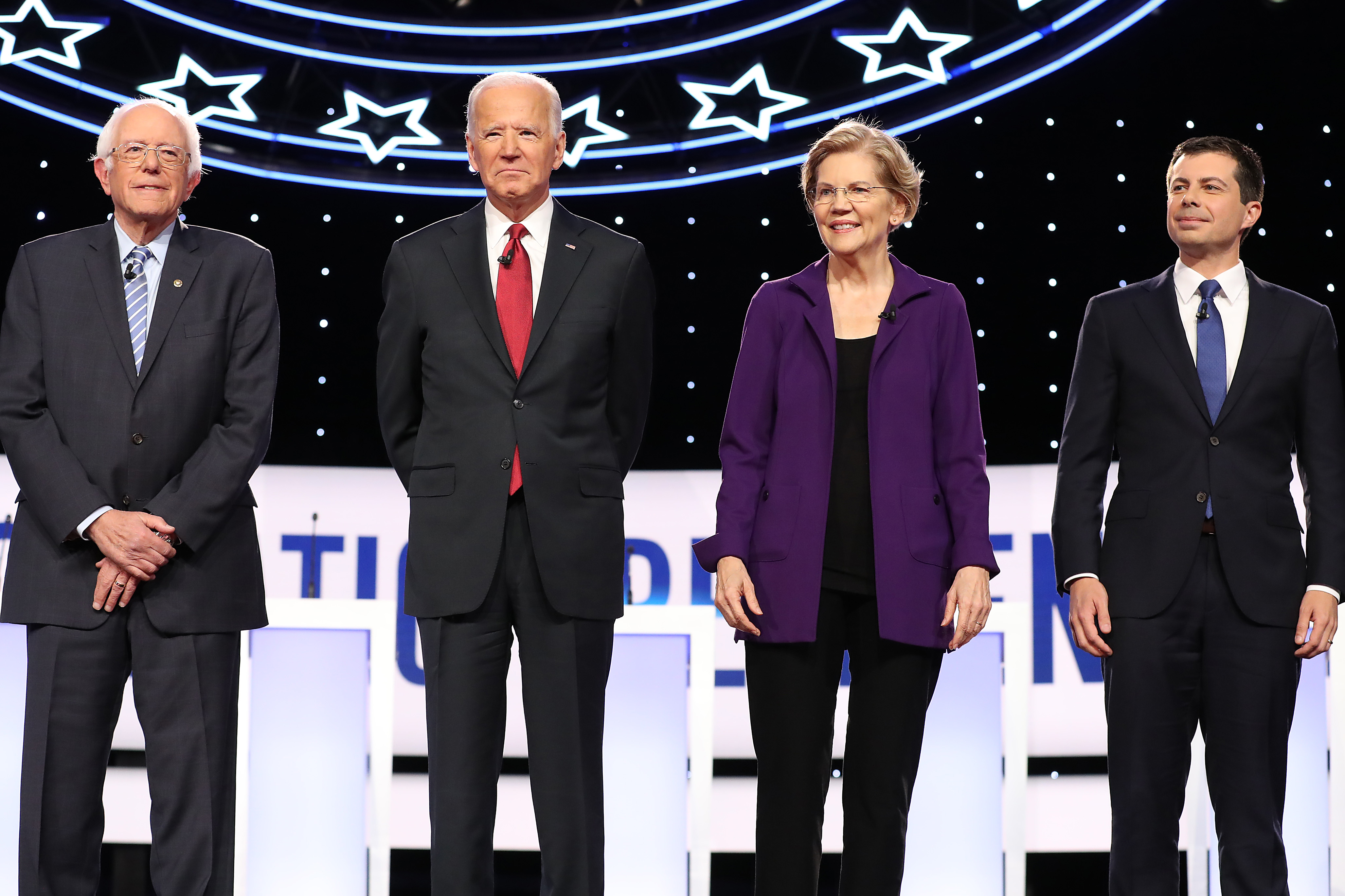 Democratic candidates at the fourth debate