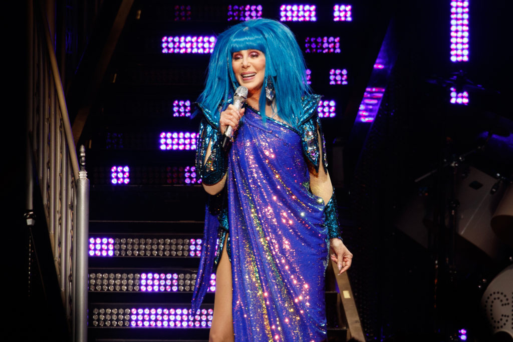 Cher performs on stage at The O2 Arena on October 21, 2019 in London, England. (Burak Cingi/Redferns)