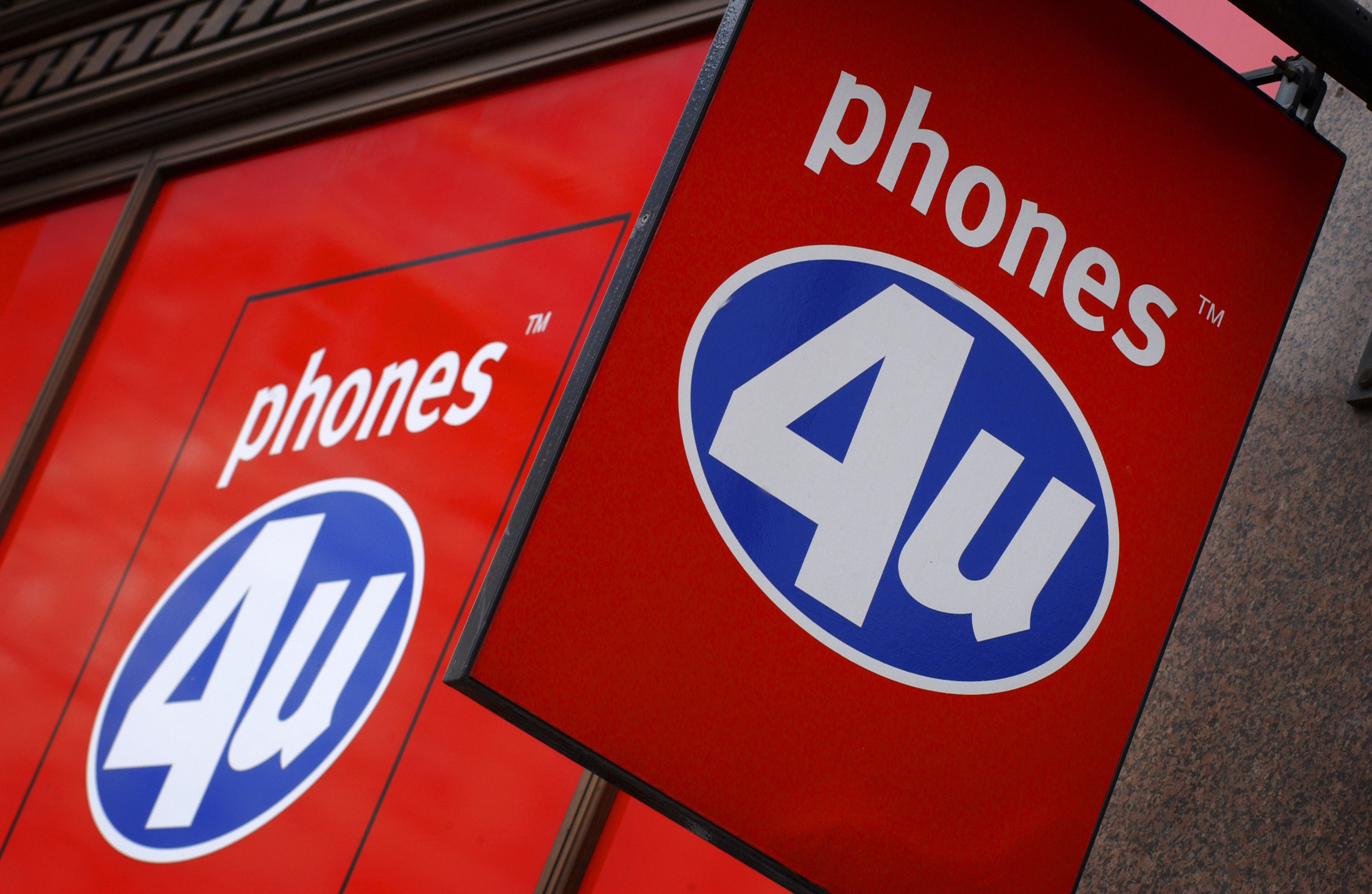 Exterior of a Phones4U store. (Newscast/Universal Images Group via Getty Images)