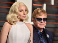Lady Gaga and Elton John attend the 2016 Vanity Fair Oscar Party Hosted By Graydon Carter at the Wallis Annenberg Center for the Performing Arts on February 28, 2016 in Beverly Hills, California.