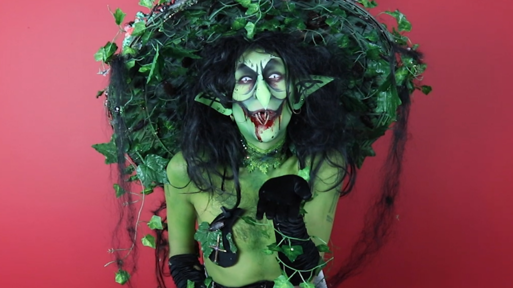 Witchy Halloween drag make-up (PinkNews)