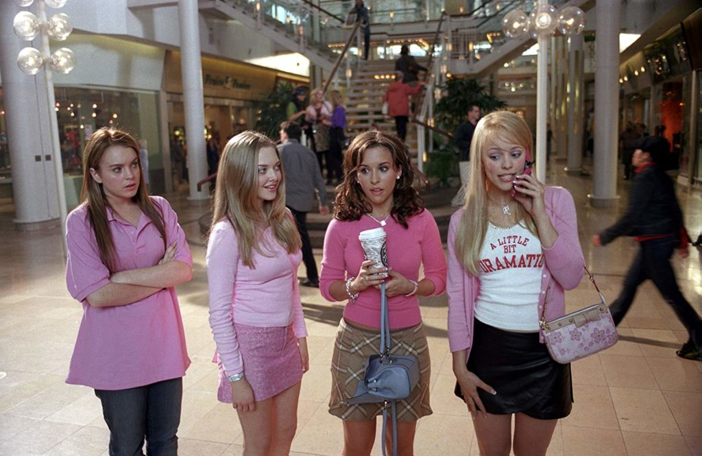 From L-R, Lacey Chabert, Lindsay Lohan, Rachel McAdams, and Amanda Seyfried. (Mean Girls/IMDb)