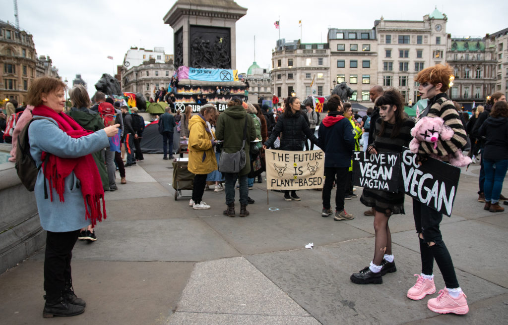 RuPaul's Drag Race star Scaredy Kat protests with Extinction Rebellion
