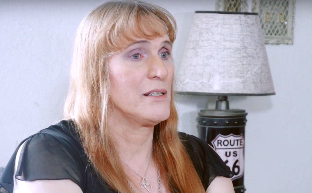 Diane Roberts faced 18 months of constant anti-trans harassment. Now she's fighting back. (Screen capture via YouTube)