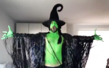 Mark Kanemura is truly unlimited as he delivered a Wicked Halloween performance. (Screen capture via Twitter)