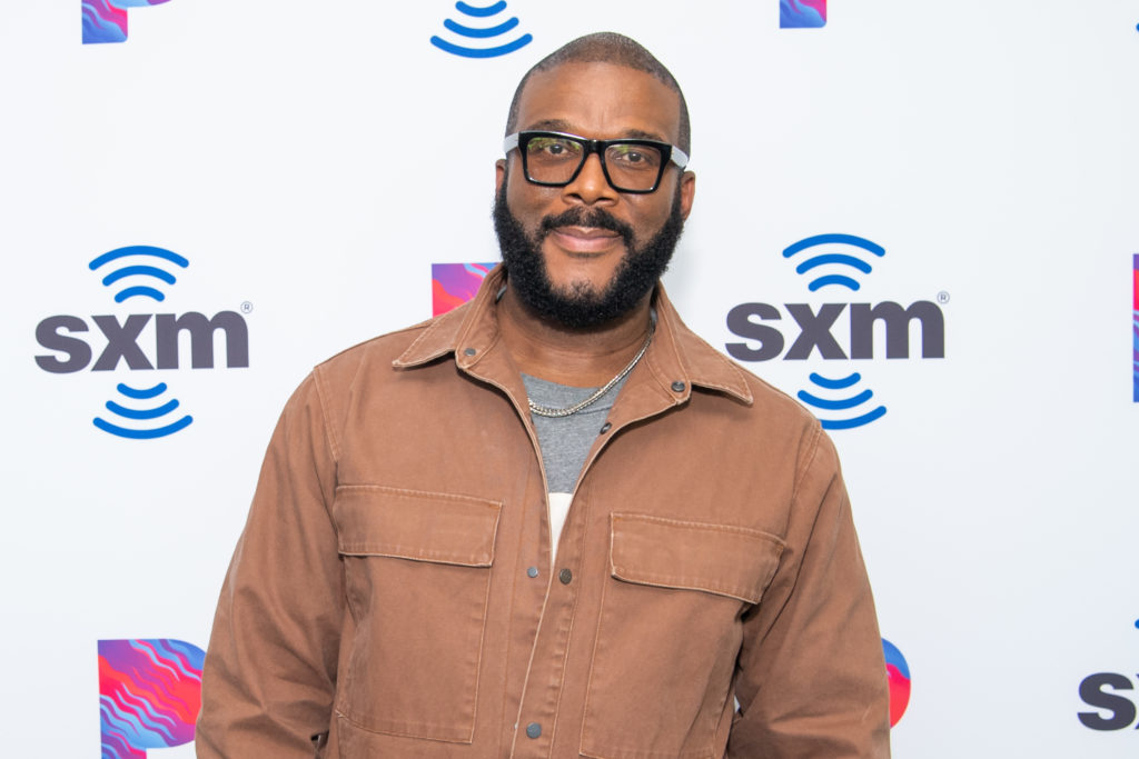 Tyler Perry attends 'Tyler Perry visits the SiriusXM Hollywood studios in Los Angeles' at SiriusXM Studios on October 08, 2019 in Los Angeles, California.