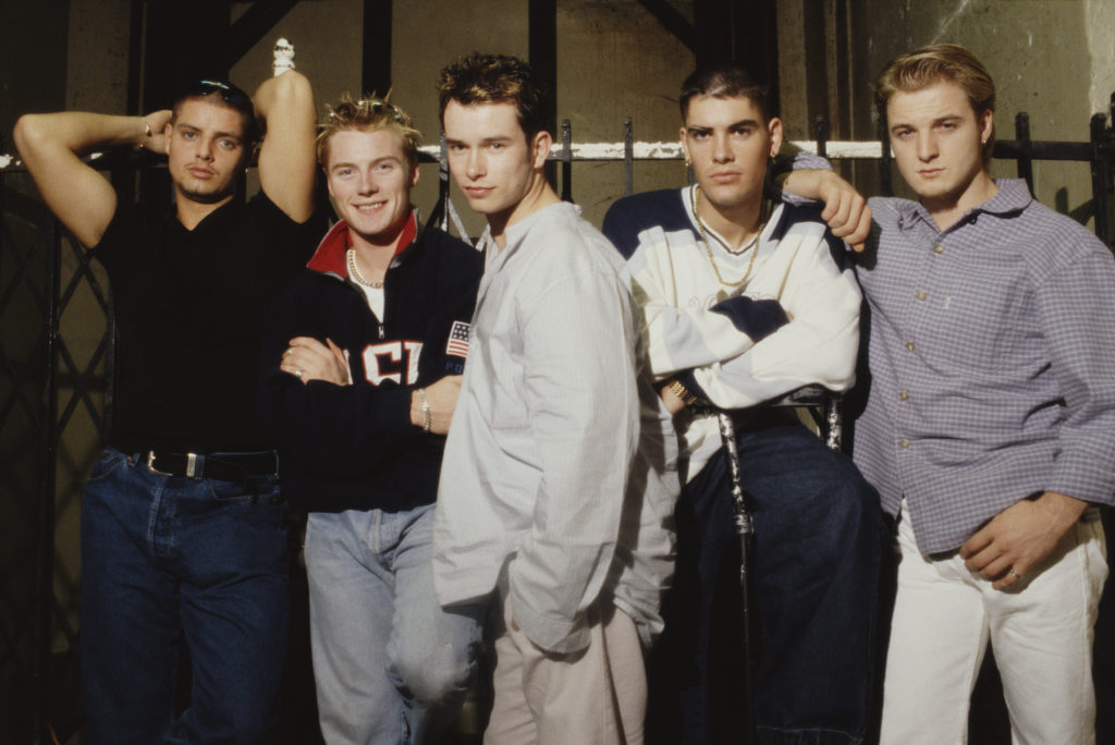 Boyzone members Keith Duffy, Ronan Keating, Stephen Gately, Shane Lynch and Mikey Graham