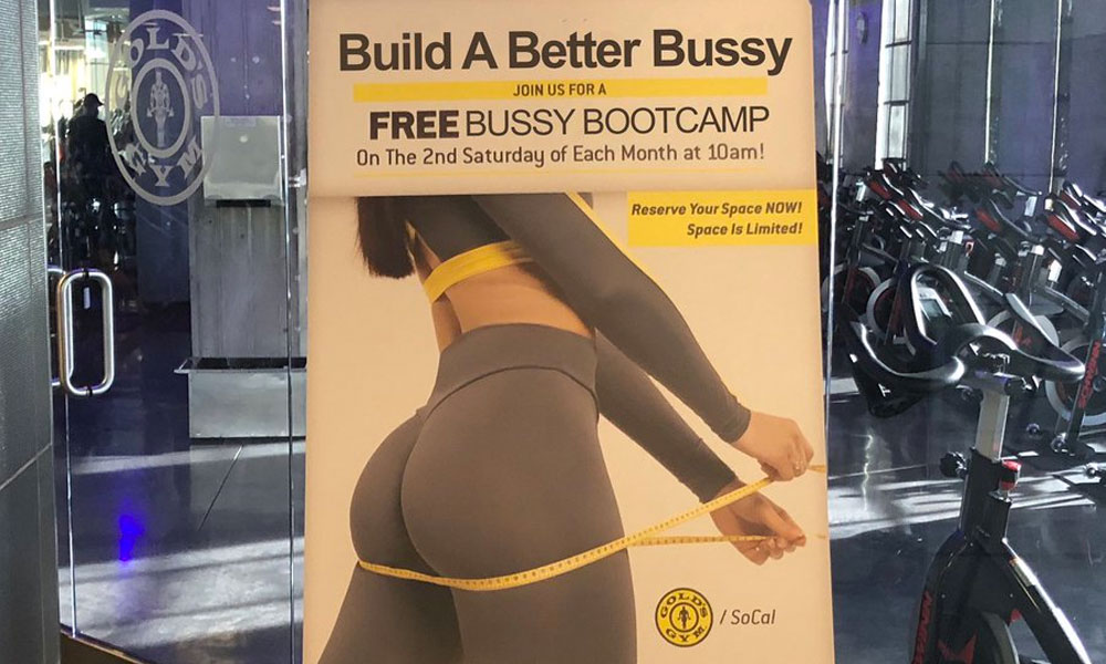 A poster for a 'build a better bussy' bootcamp