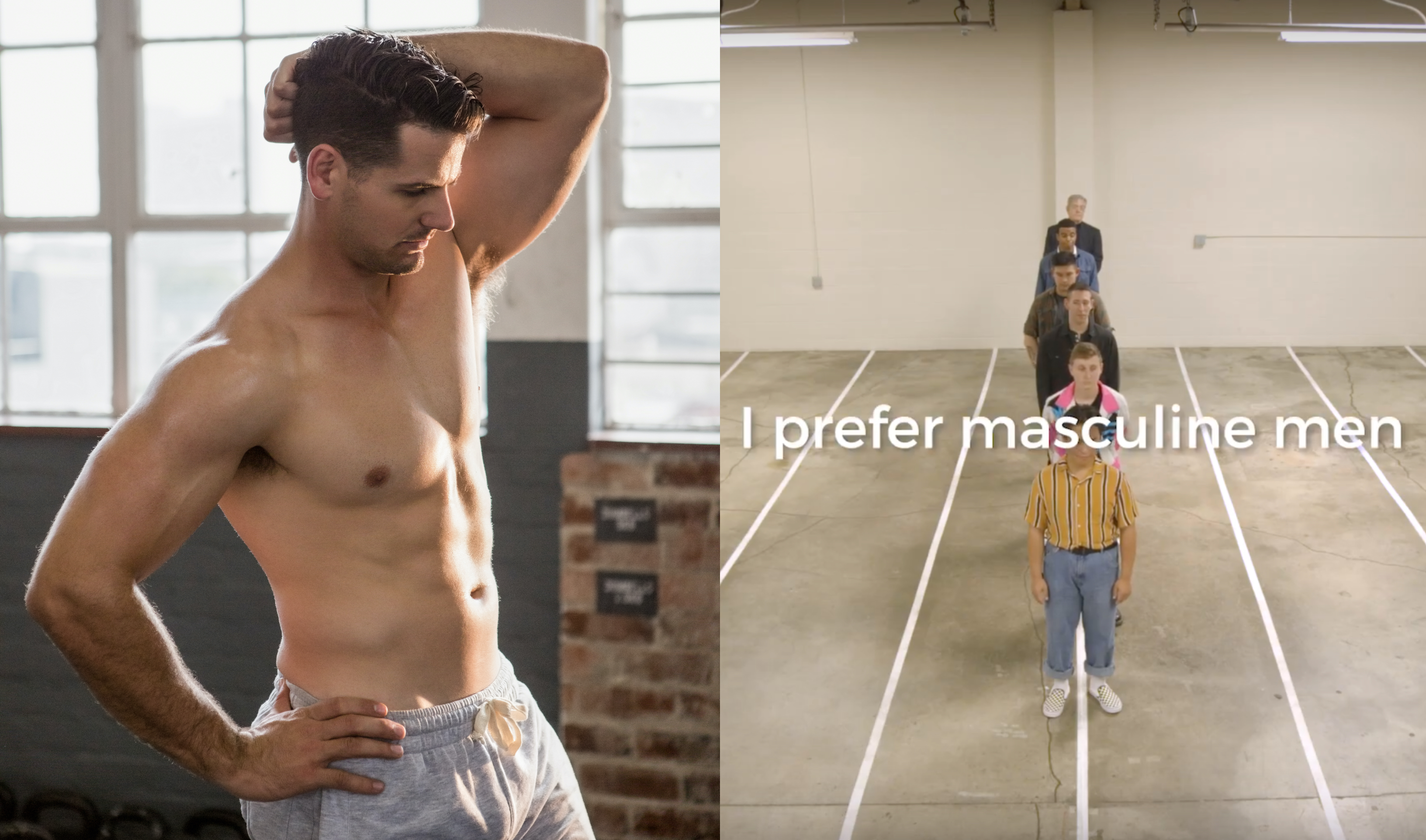 A viral video exploring how gay men view masculinity has divided Twitter. (Elements Envato)