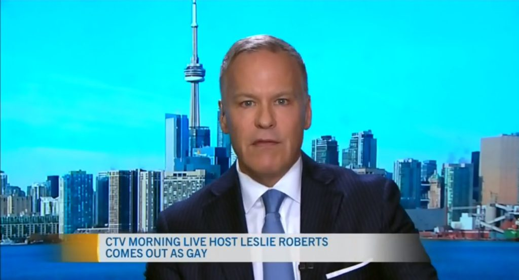 Leslie Roberts celebrated National Coming Out Day by speaking about his sexuality