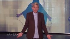The clip parodying Ellen DeGeneres was pulled down by a copyright claim