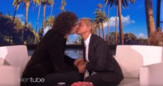 Ellen DeGeneres decided to kiss Howard Stern for some reason