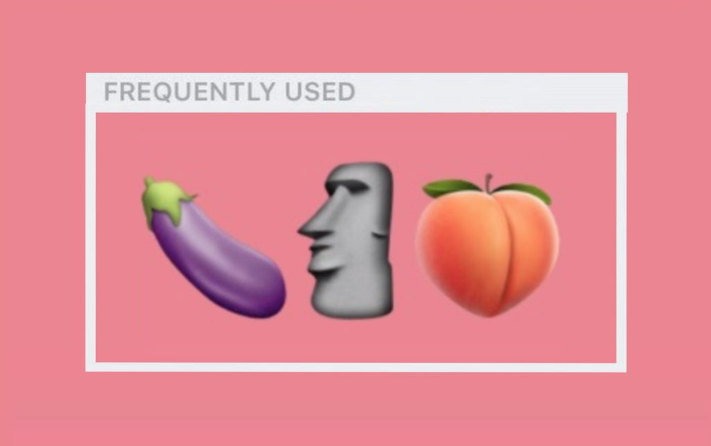 From the aubergine to peaches to Moai statues, what people's most-used emojis are taels more than just their texting habits. (Emoji)