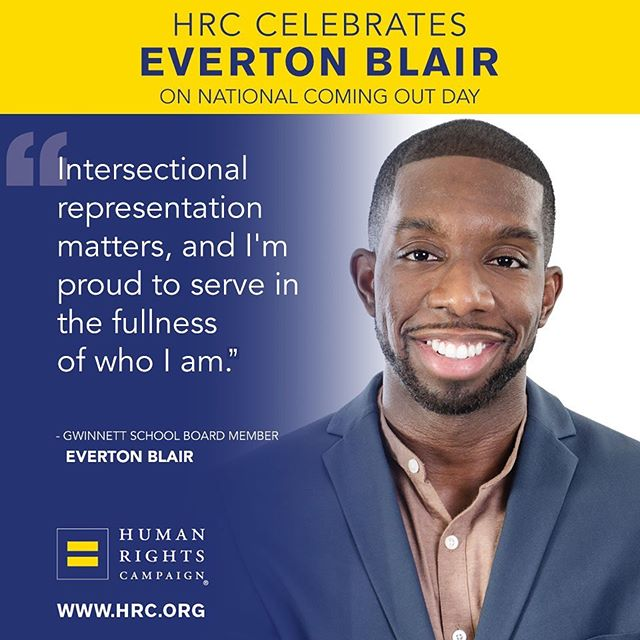 Everton Blair: Democrat politician comes out while making powerful point