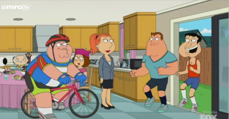 Family Guy follows transphobic episode by taking aim at 'network TV gays'