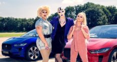The Vivienne (L) with Drag SOS' Cheddar Gorgeous and RuPaul's Drag Race's Courtney Act. (Attitude Magazine)