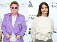 Elton John (L) has come to Lana Del Rey's corner over her infamous performance on Saturday Night Live in 2012. (Daniele Venturelli/Daniele Venturelli via Getty Images/ Rebecca Sapp/Getty Images for The Recording Academy)
