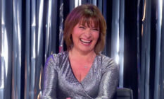 Lorraine Kelly smiling on Drag Race UK's Snatch Game