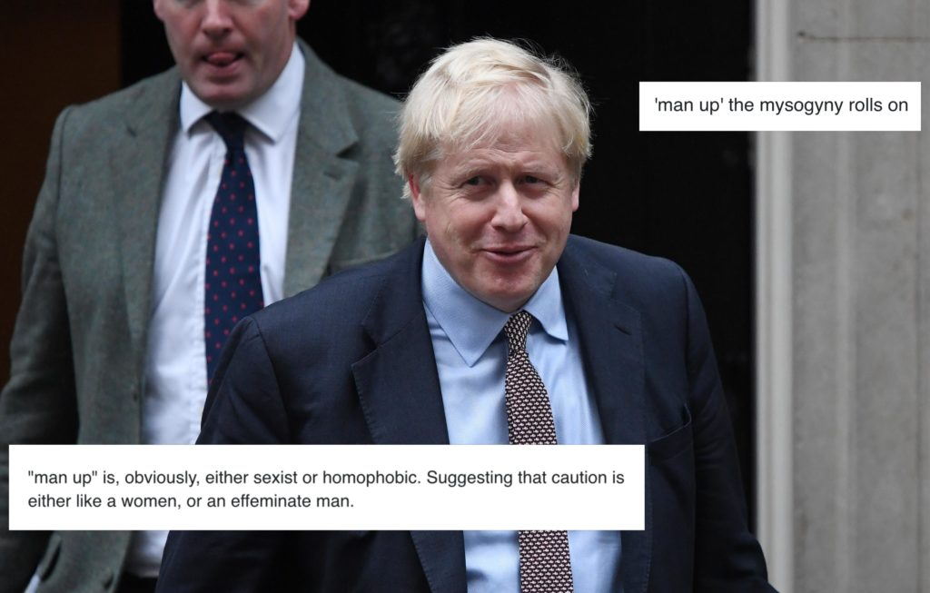 """Boris Johnson is under fire for telling Jeremy Corbyn to """"man up"""" in a recent interview. (Chris J Ratcliffe/Getty Images)"""
