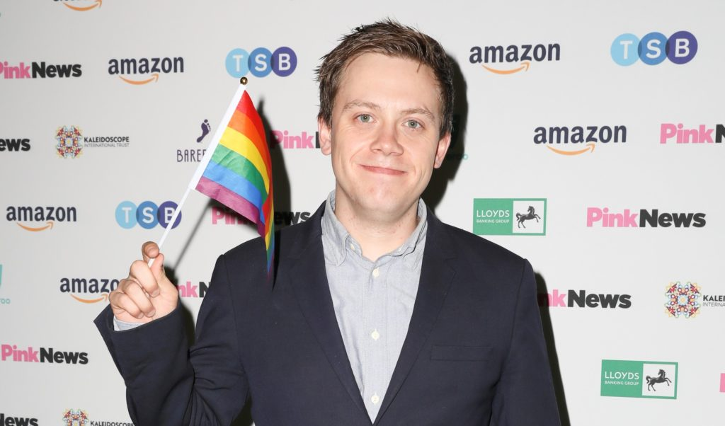 Owen Jones at the PinkNews Awards
