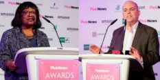 Diane Abbott and Andrew Moffat spoke out at the PinkNews Awards