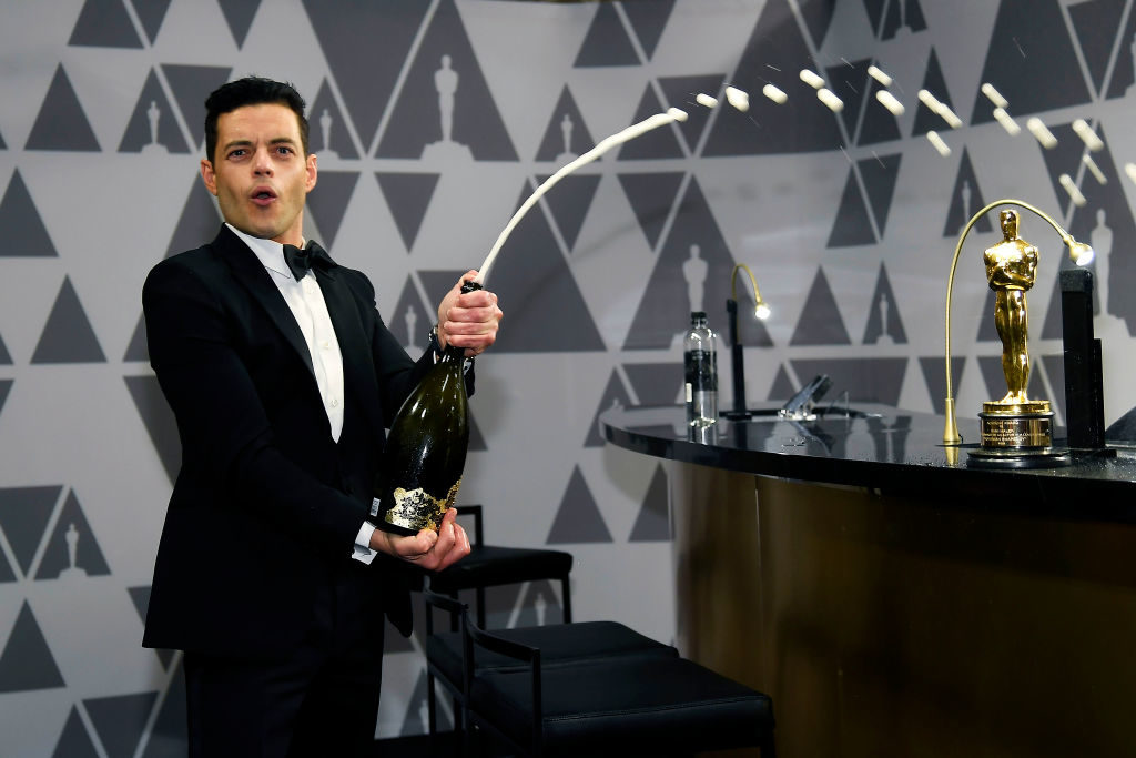Rami Malek and Daniel Craig shared a kiss on the set of the new James Bond film
