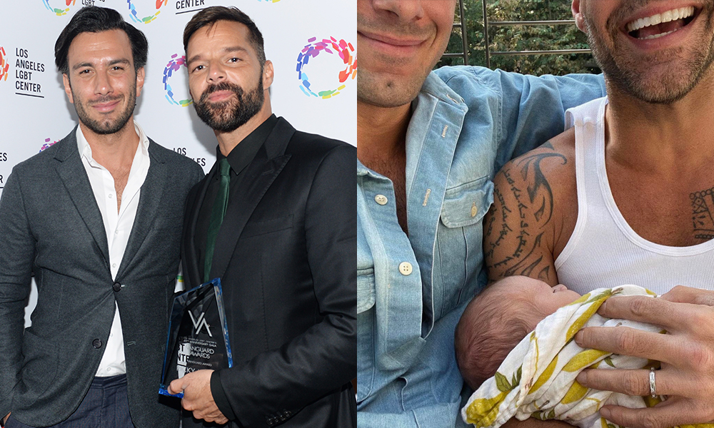 Ricky Martin, his husband Jwan Yosef and their son Renn
