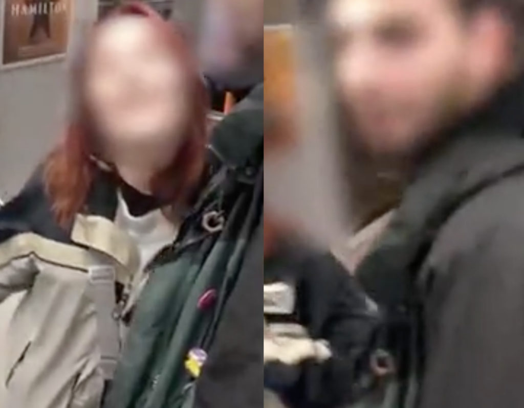 The two suspects in the alleged incident. (Screen capture from Facebook/Metro.co.uk)