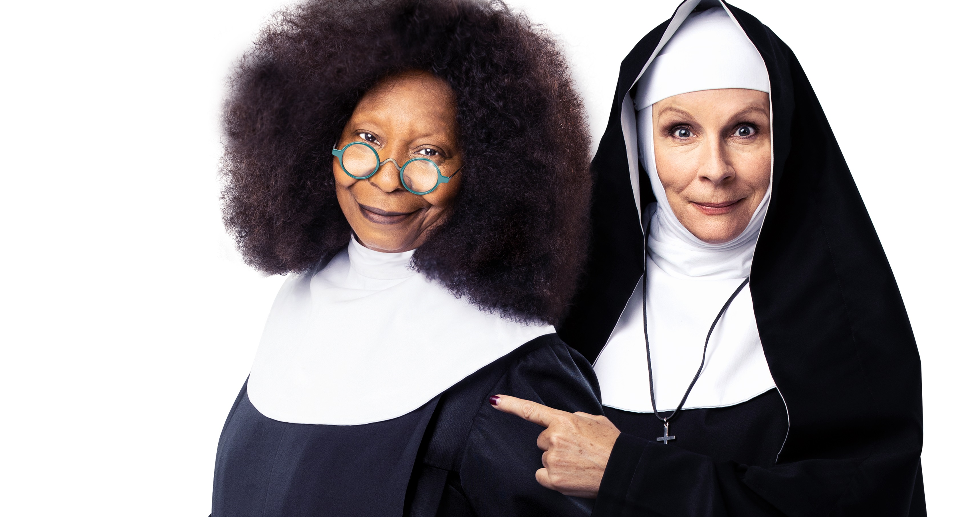 Whoopi Goldberg and Jennifer Saunders in Sister Act