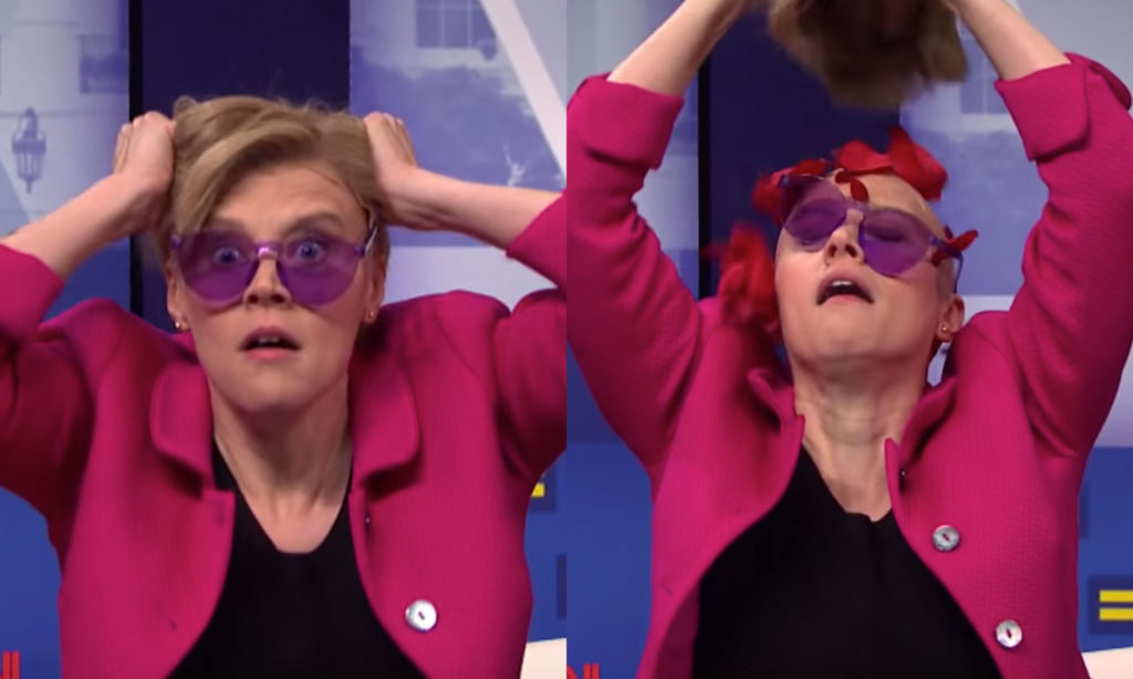 Kate McKinnon as Elizabeth Warren on Saturday Night Live