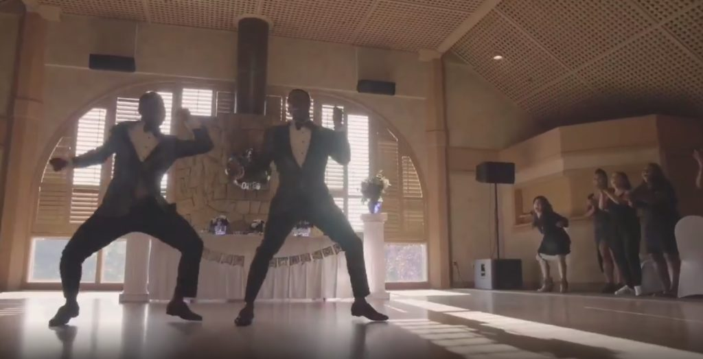 Isaiah and Taylor Green-Jones pulled off the flawless dance routine