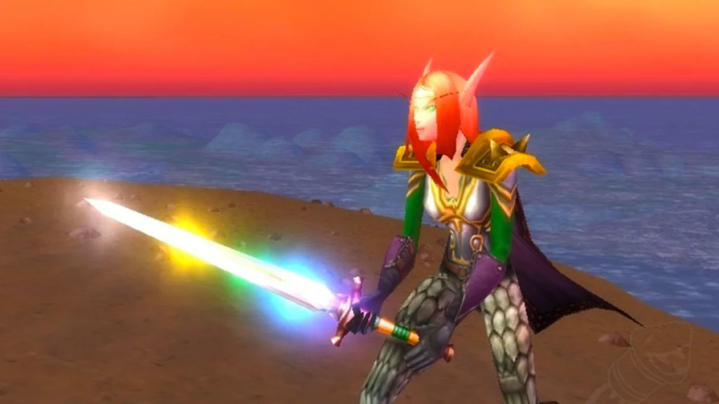 World of WarCraft's chromatic sword.