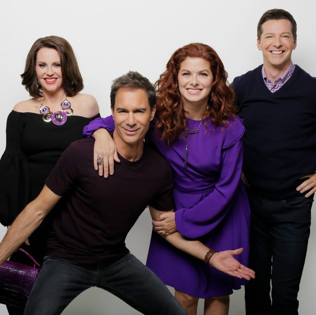 Will & Grace feud Megan Mullalay, Eric McCormack, Debra Messing and Sean Hayes have rarely been seen together