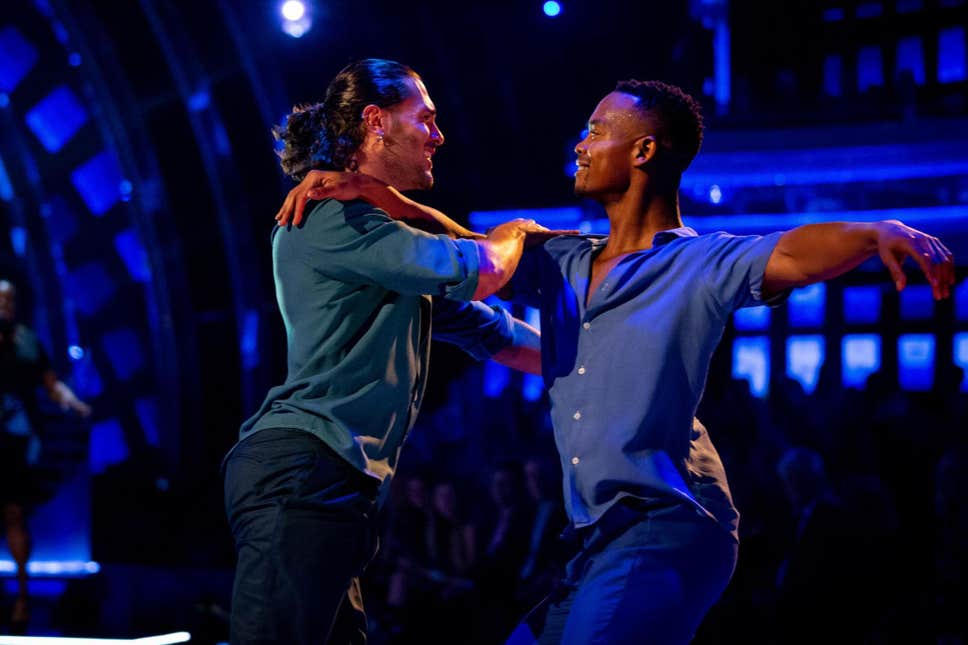Two men dancing on Strictly