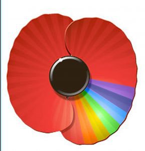 The second rainbow poppy design clogging up Twitter timelines was a one-off, never-sold design by Doncaster Pride. (Instagram)