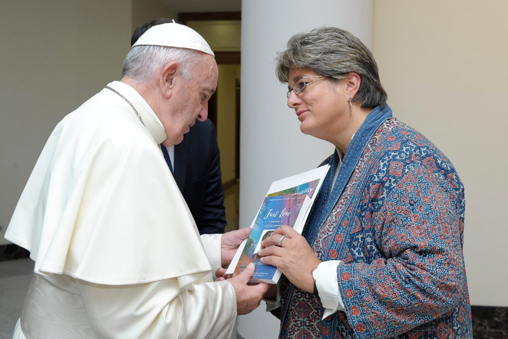 Jayne Ozanne and Pope Francis